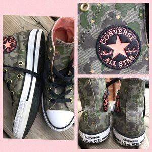 Converse Hi Tops Star Camo Little Girl Sneakers